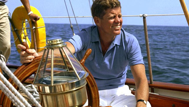 John F. Kennedy Sailing In Newport
