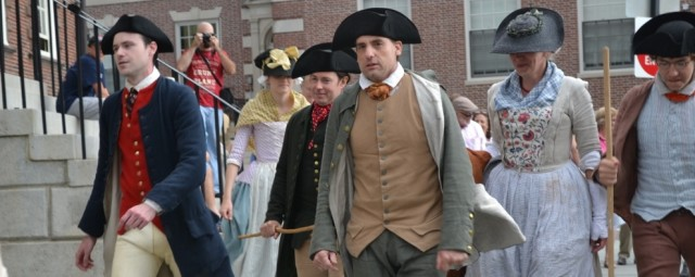 stamp act reenactment newport historical society
