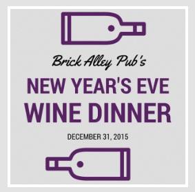 Wine Dinner Brick Alley
