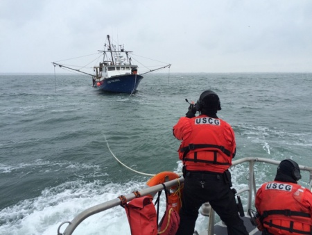 Coast Guard and Good Samaritans Respond to Disabled Fishing Boat 30 Miles South of Block Island