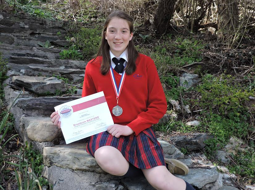 Cluny School 8th Grader Hannah Marley Receives Top Award In Ri Intel International Science And