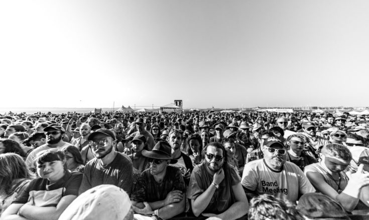 Crowd enjoying music at The Fort Stage