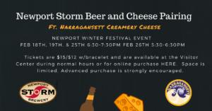 Rhody Beer & Cheese Pairing @ Newport Storm Brewery  |  |  |