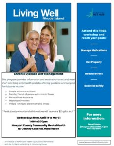 Chronic Disease Self-Management Class @ Newport County Community Mental Health |  |  |