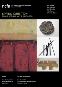 Newport Contemporary Fine Arts - Spring Exhibition - Opening May 05, 2017 @ Newport Contemporary Fine Arts |  |  |