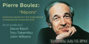 Newport Contemporary Music Series: Boulez & Beyond @ Portsmouth High School |  |  |