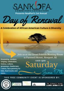 Day of Renewal A Celebration of African American Culture & Diversity @ Great Friends Meeting House |  |  |