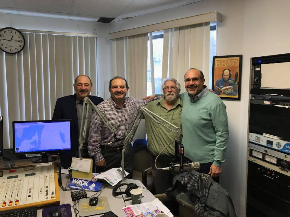 Nick, Ron, Frank And Pete In The Studio Of AM 1540 WADK Newport