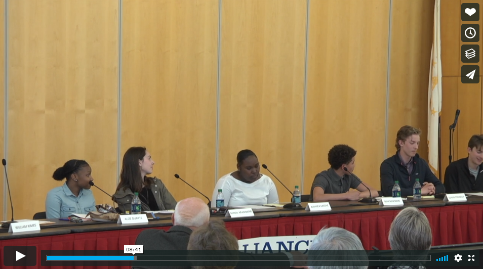 Video: Students of Newport Public Schools speak out